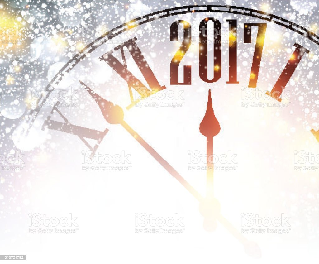 Background image 2017 - 2017 New Year Background With Clock Royalty Free Stock Vector Art