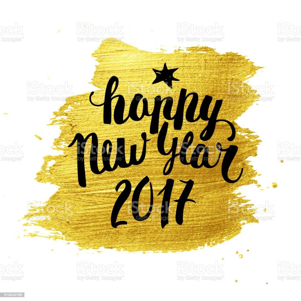 New Year calligraphy vector art illustration