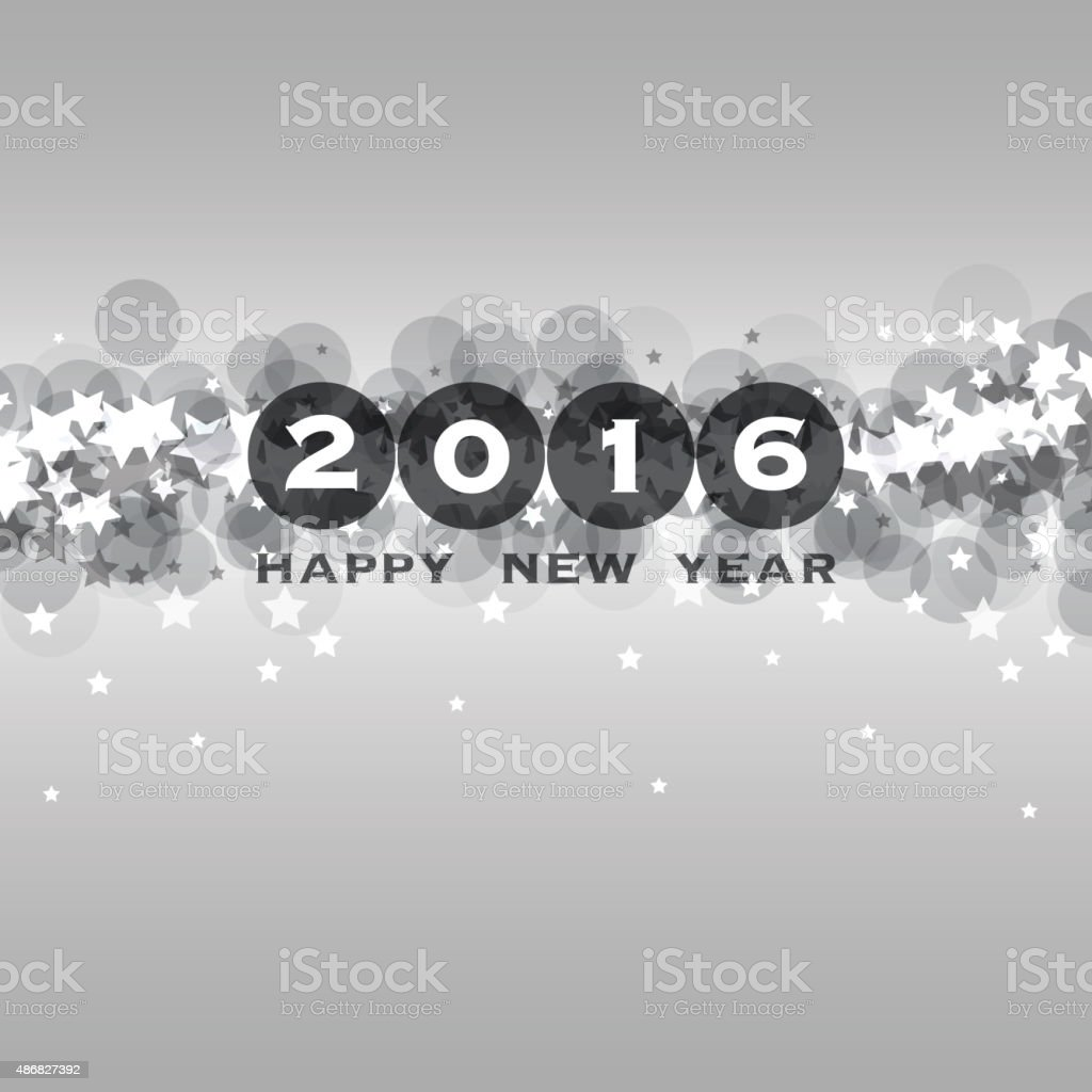 New Year Card Background - 2016 vector art illustration