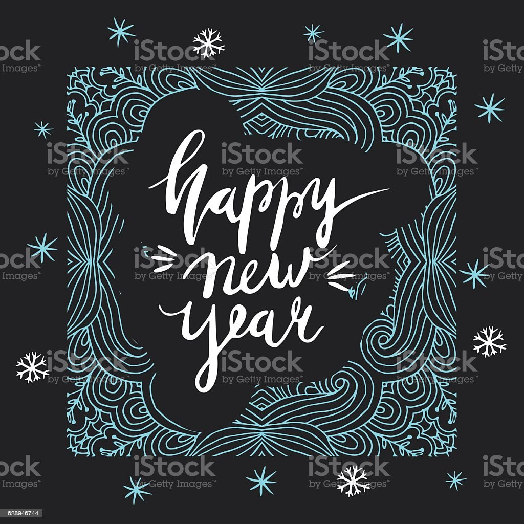 New Year card design elements. royalty-free stock vector art