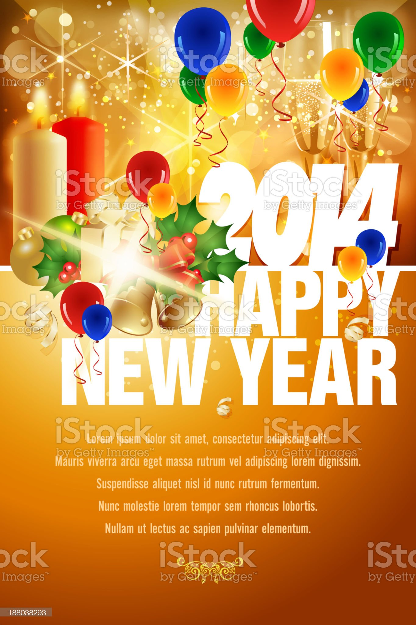 New Year Celebration Background royalty-free stock vector art