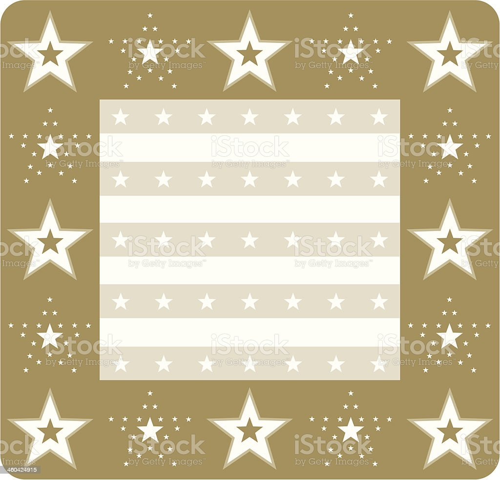 New Year Celebration Stars & Stripe Frame royalty-free stock vector art