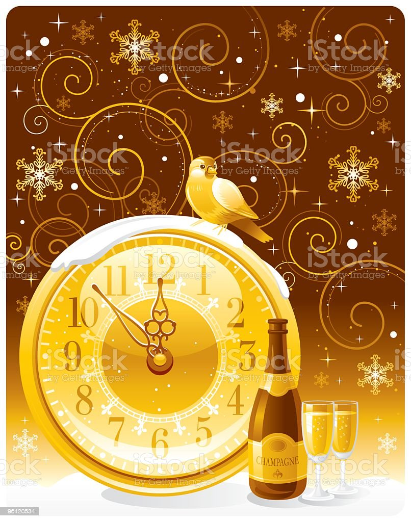 New Year celebration vector art illustration