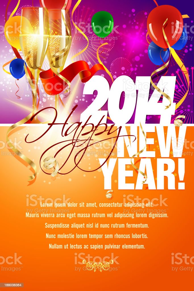 New Year Celebrations Background royalty-free stock vector art