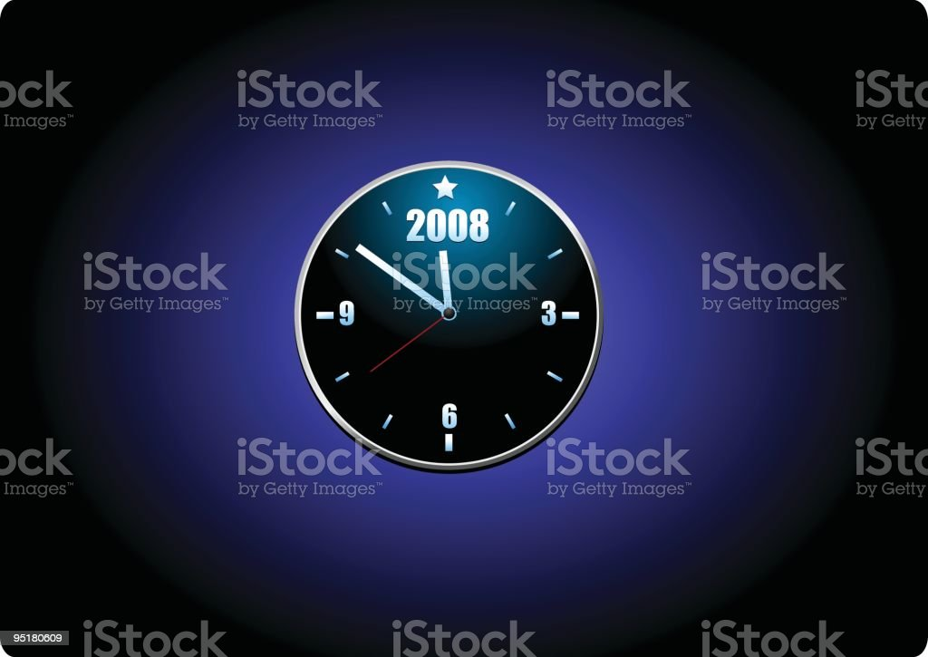 New year clock royalty-free stock vector art