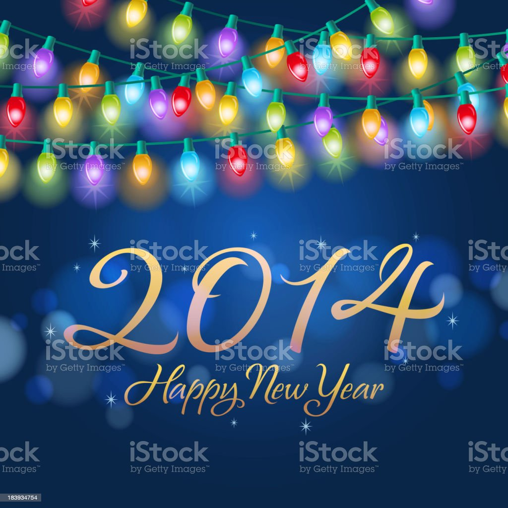 New Year Colorful Lighting royalty-free stock vector art