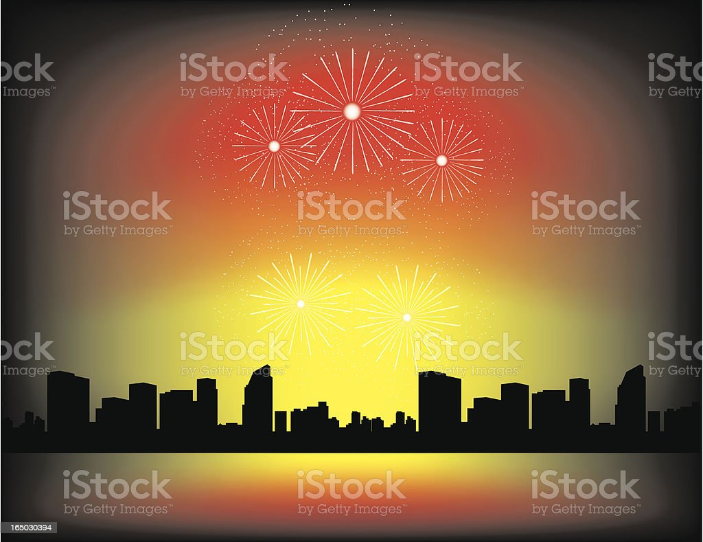 New Year/ Fireworks royalty-free stock vector art