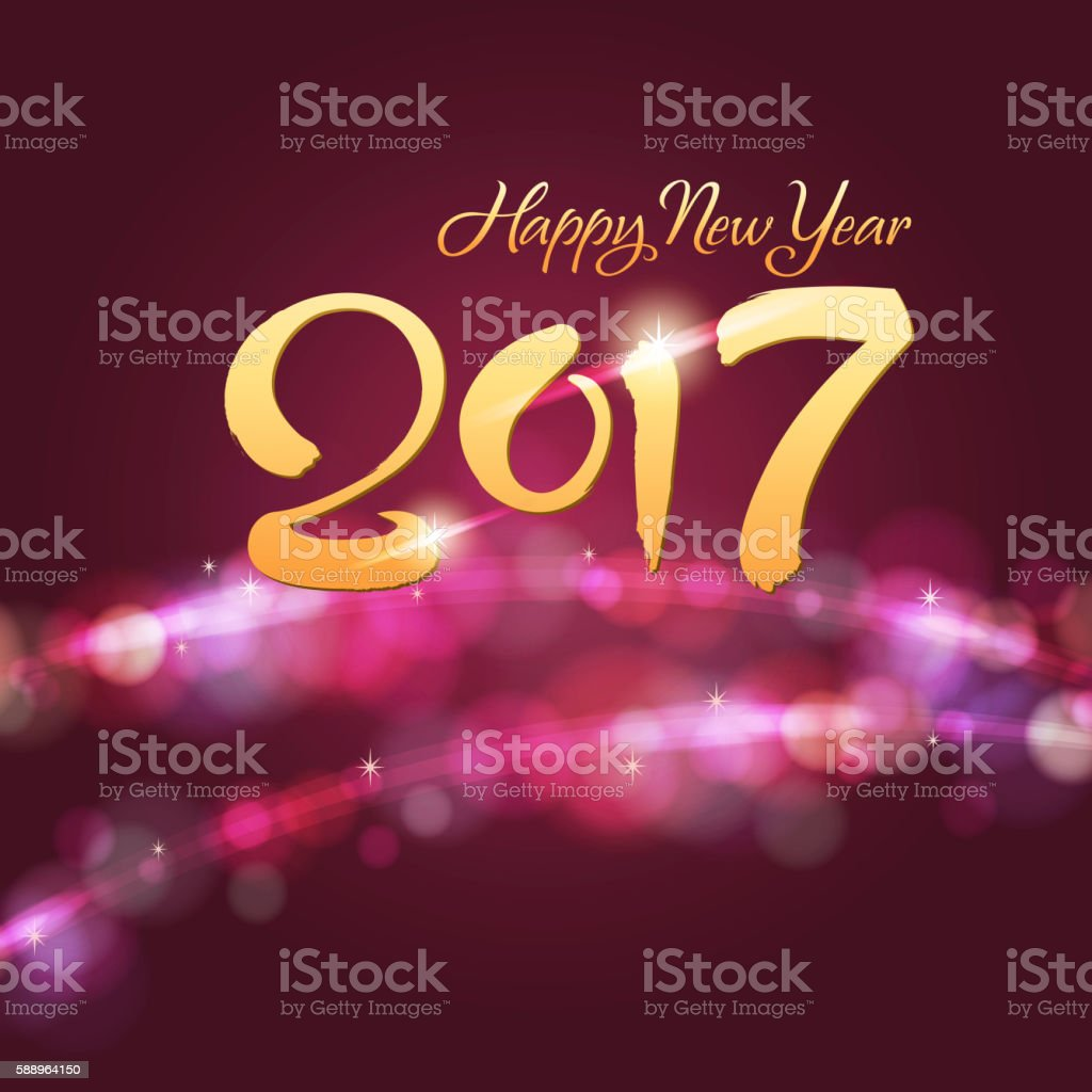 2017 New Year Flash Background vector art illustration