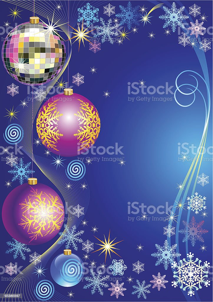 New Year greeting card royalty-free stock vector art
