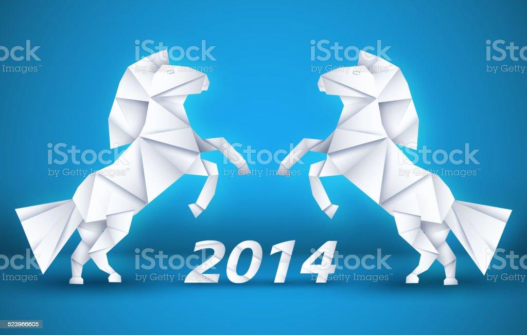 New year Horse background concept. vector illustration vector art illustration