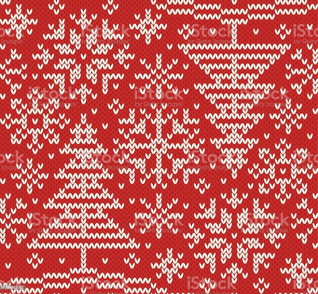 New year knitted northern seamless pattern vector art illustration