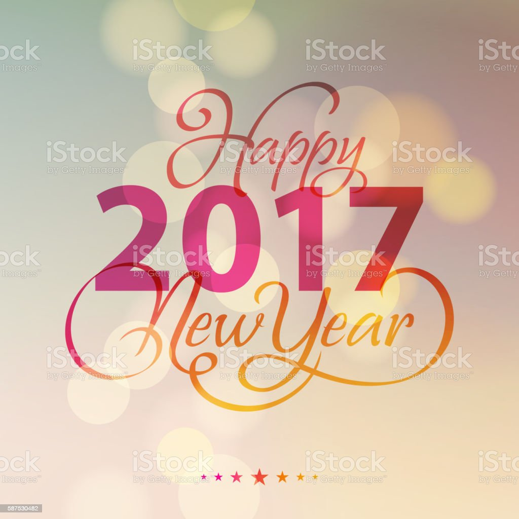 New Year Lighting Background 2017 vector art illustration