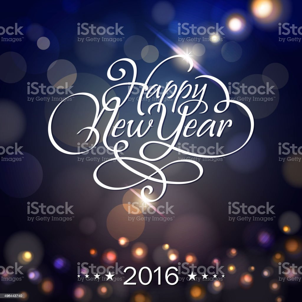 New Year lighting background vector art illustration