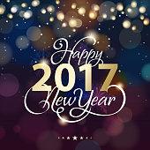 New Year lighting background