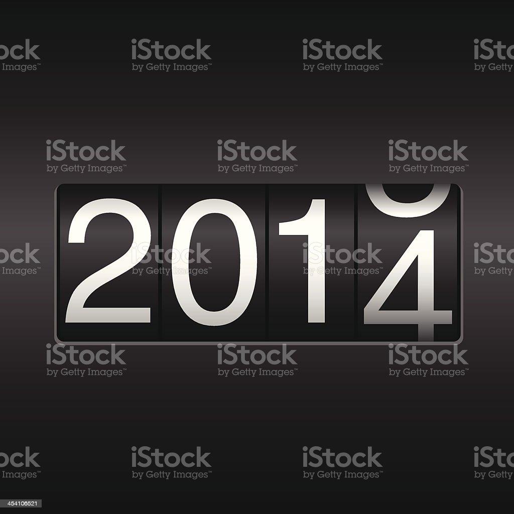 New Year Odometer 2014 vector art illustration