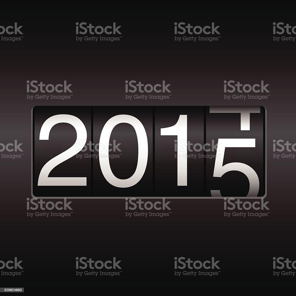 New Year Odometer 2015 vector art illustration