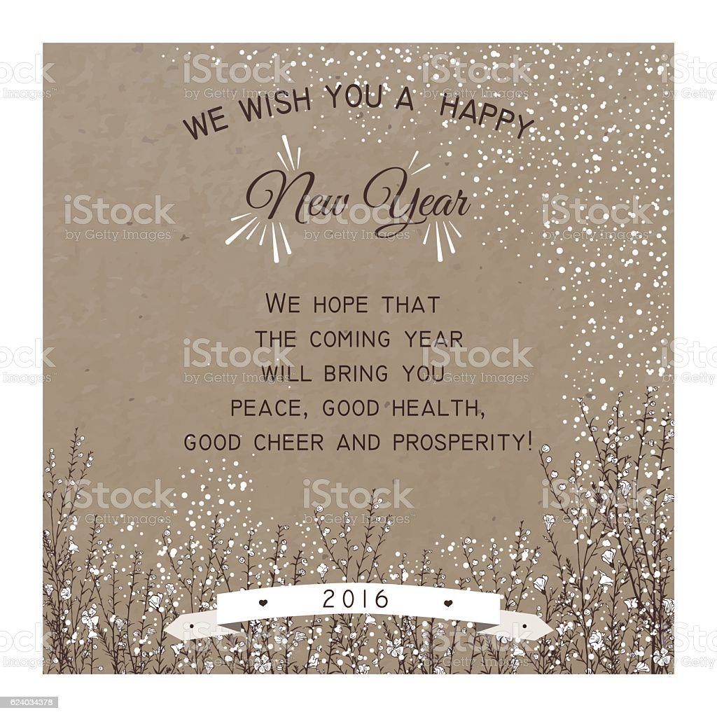 New Year Party invitation Card vector art illustration