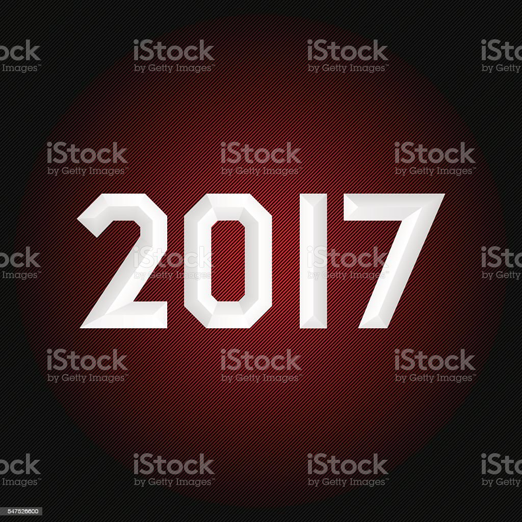 New year poster vector art illustration
