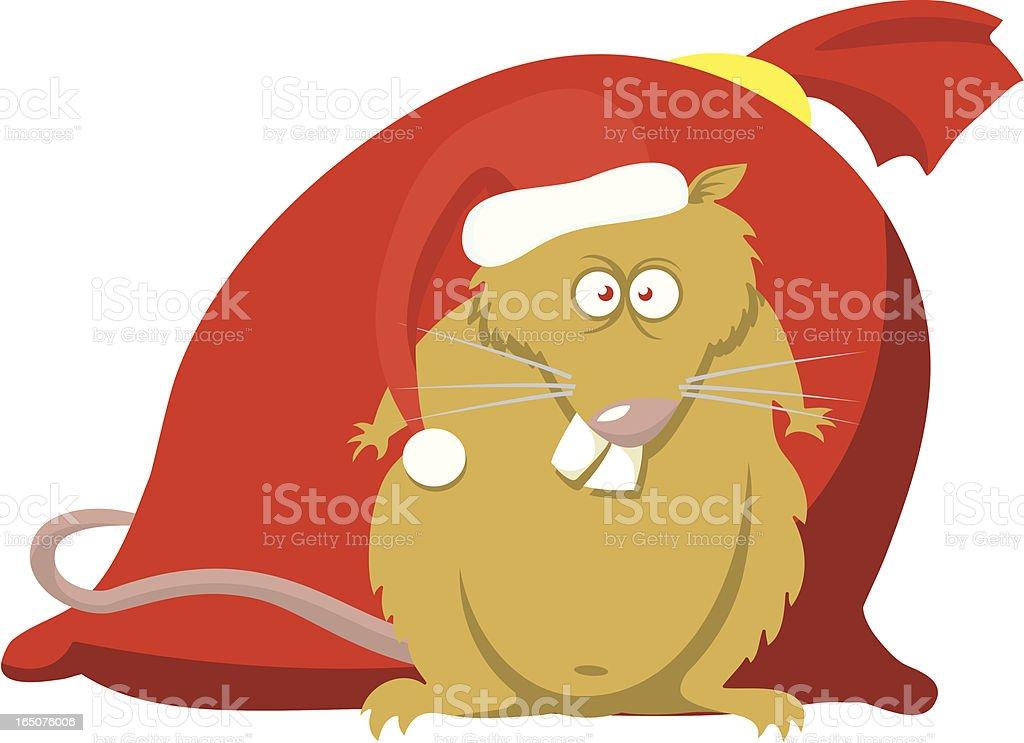 New Year rat royalty-free stock vector art