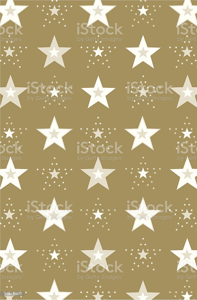New Year Stars Repeat Pattern vector art illustration
