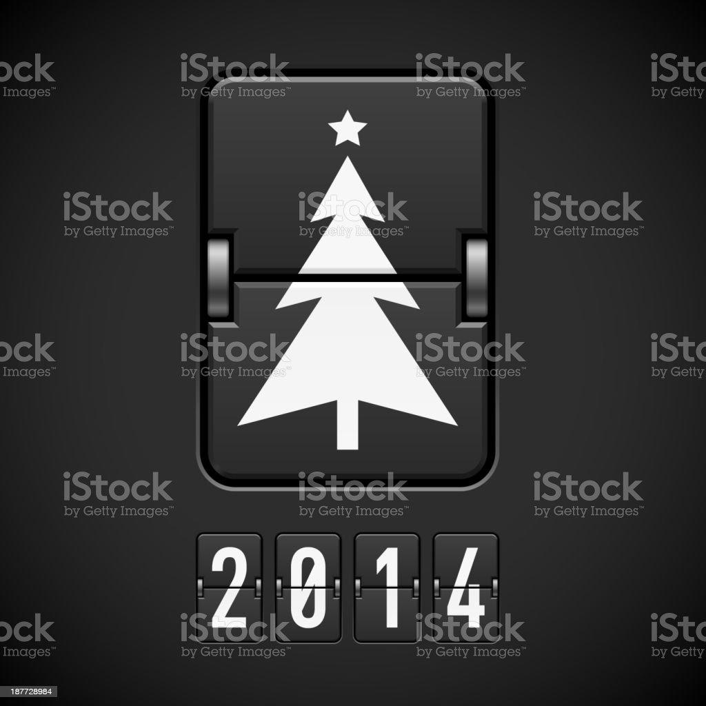 New Year symbols on scoreboard. royalty-free stock vector art