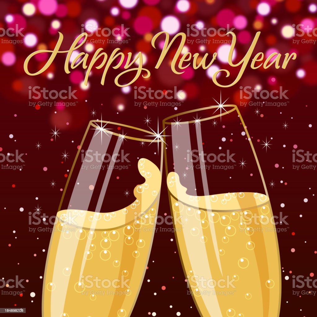 New Year Toast royalty-free stock vector art