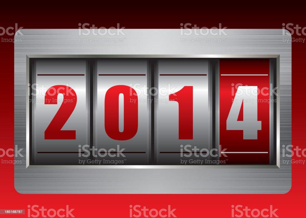 New year (2014) royalty-free stock vector art