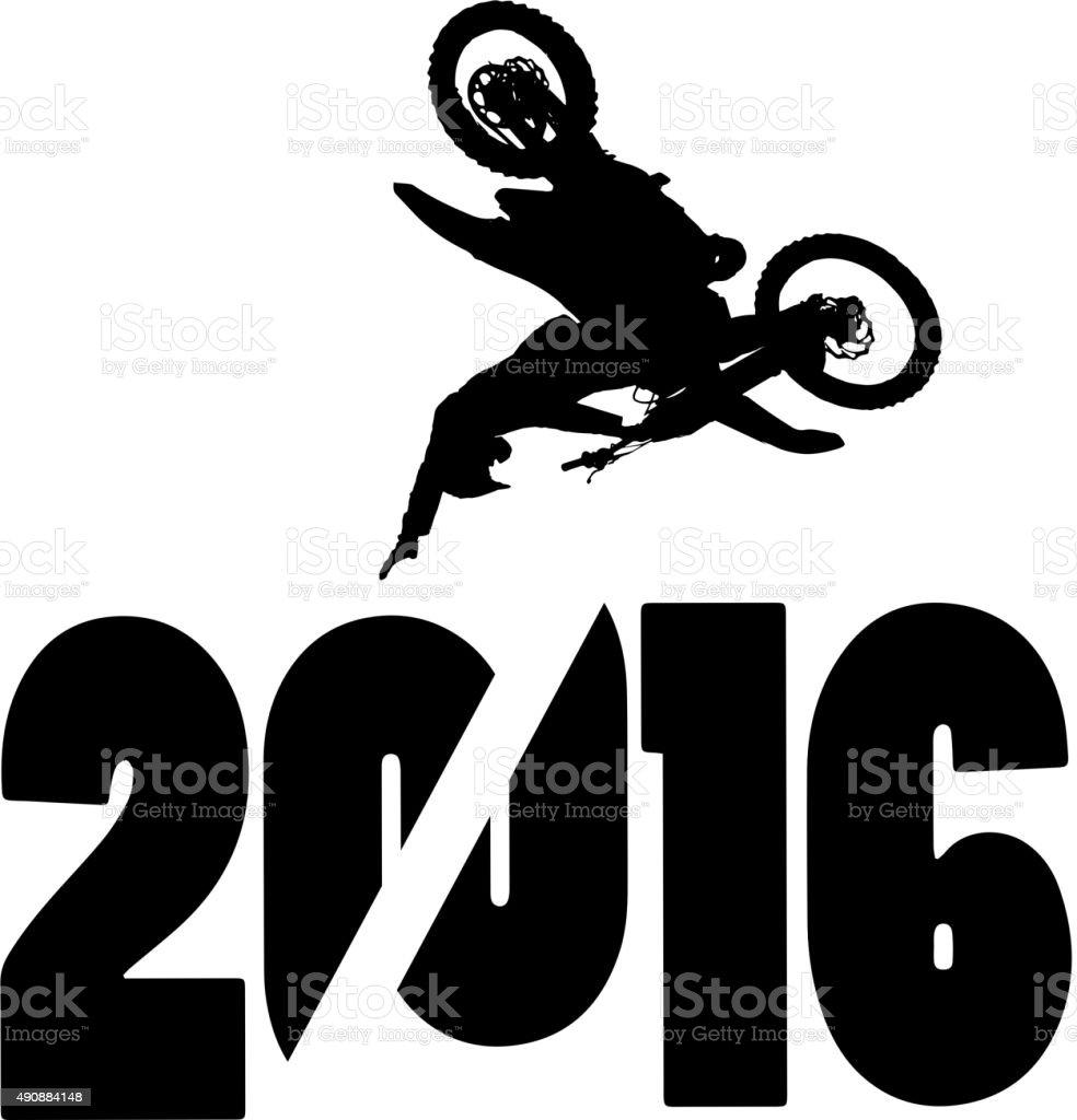 New Year vector art illustration