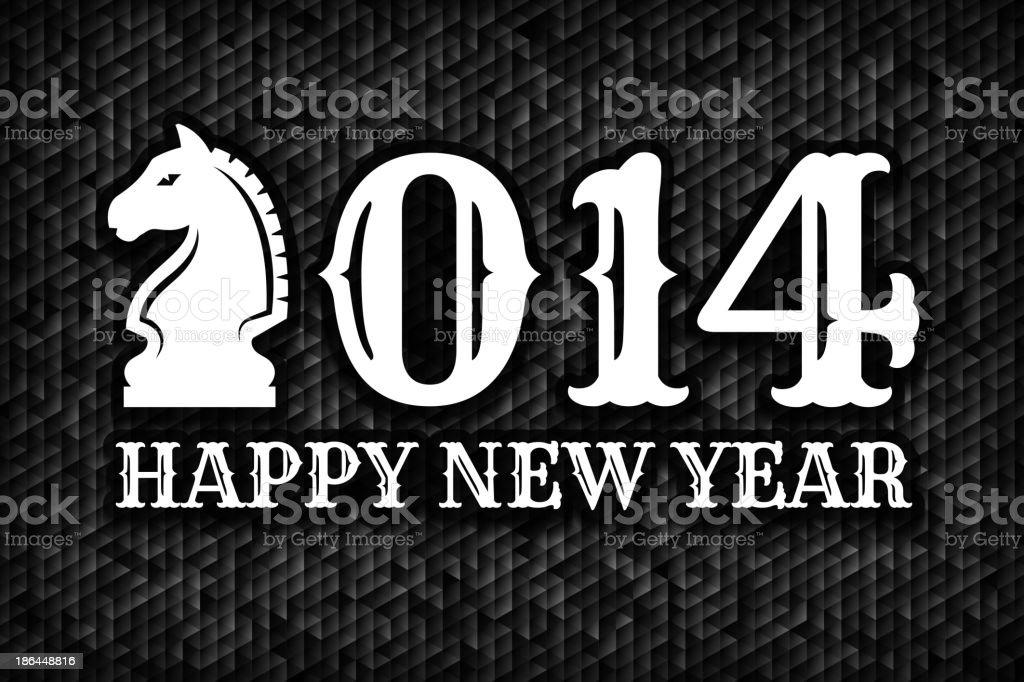 New Year's 2014 Holiday Greeting Card vector art illustration