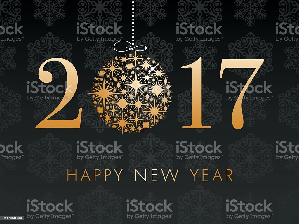 New Year's 2017 Background - Illustration vector art illustration
