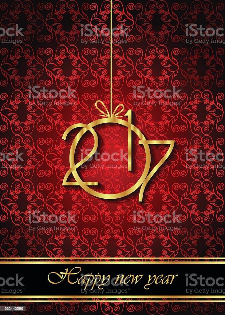New Year's 2017 Background vector art illustration