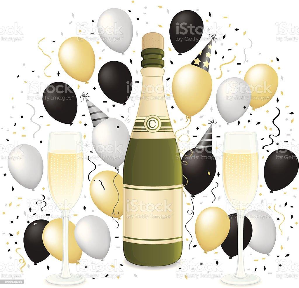 New Years Celebration royalty-free stock vector art