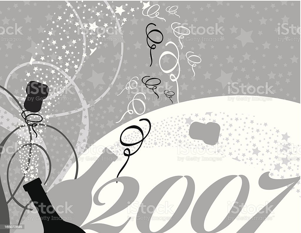 new year's champagne royalty-free stock vector art