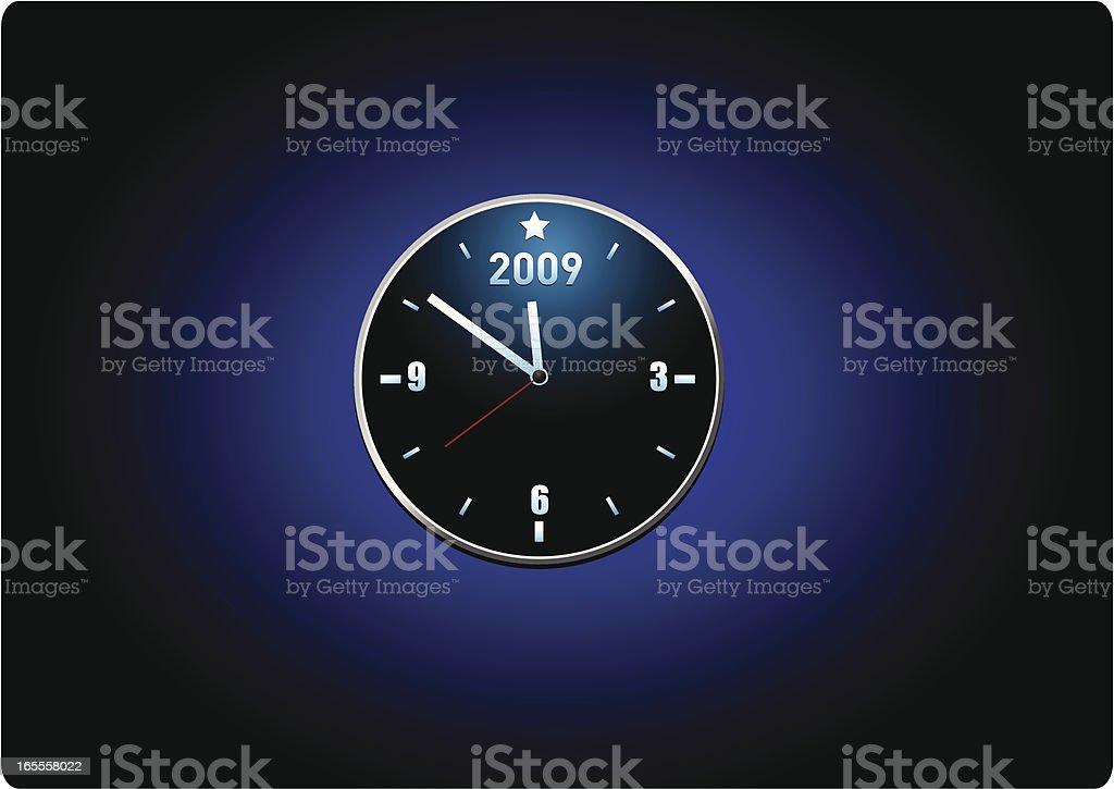 New years clock vector art illustration