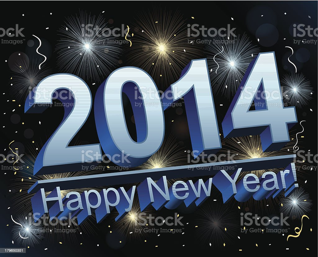 New Year's Eve 2014 royalty-free stock vector art