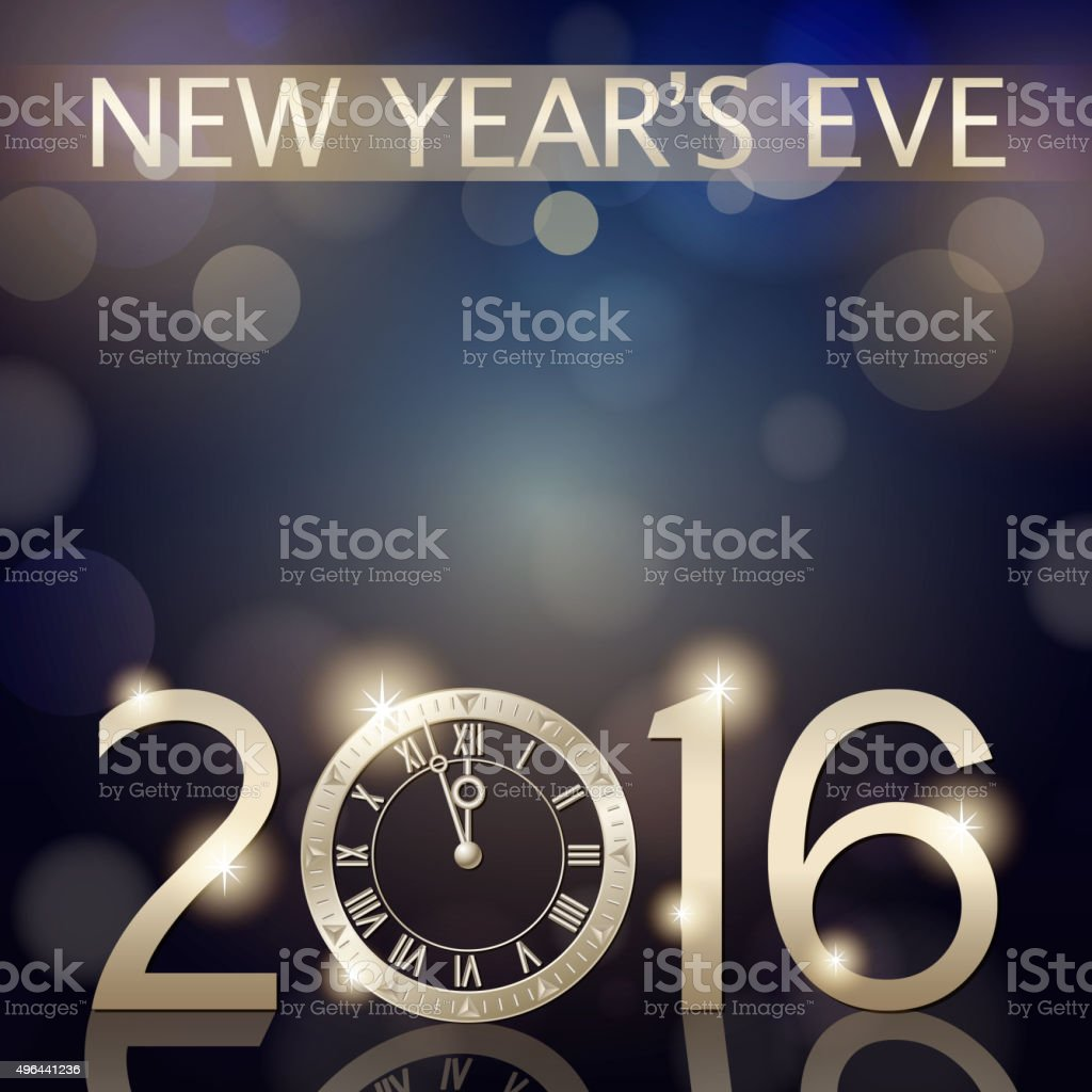 New Year's eve 2016 countdown background vector art illustration