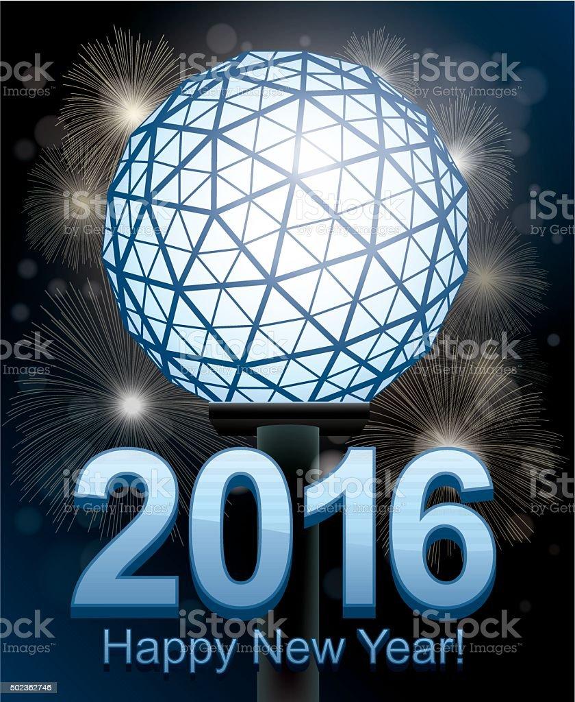 New Year's Eve 2016 vector art illustration
