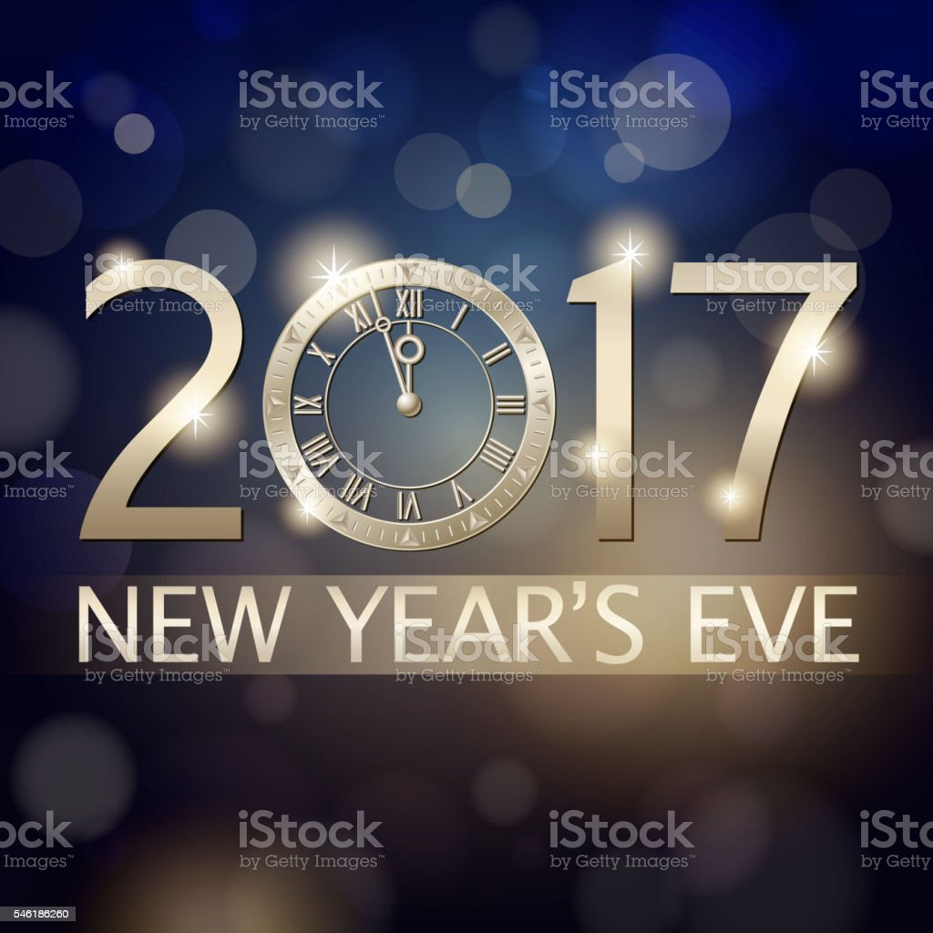 New Year's Eve 2017 Countdown Background vector art illustration