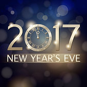New Year's Eve 2017 Countdown Background