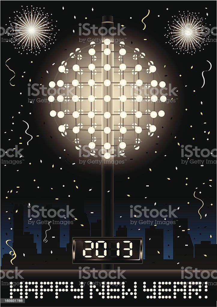 New Year's Eve Celebration vector art illustration