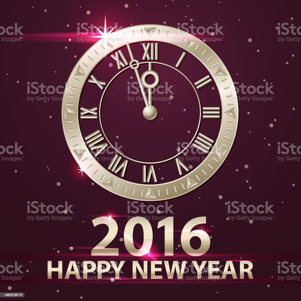 New Year's Eve Coundown 2016 vector art illustration