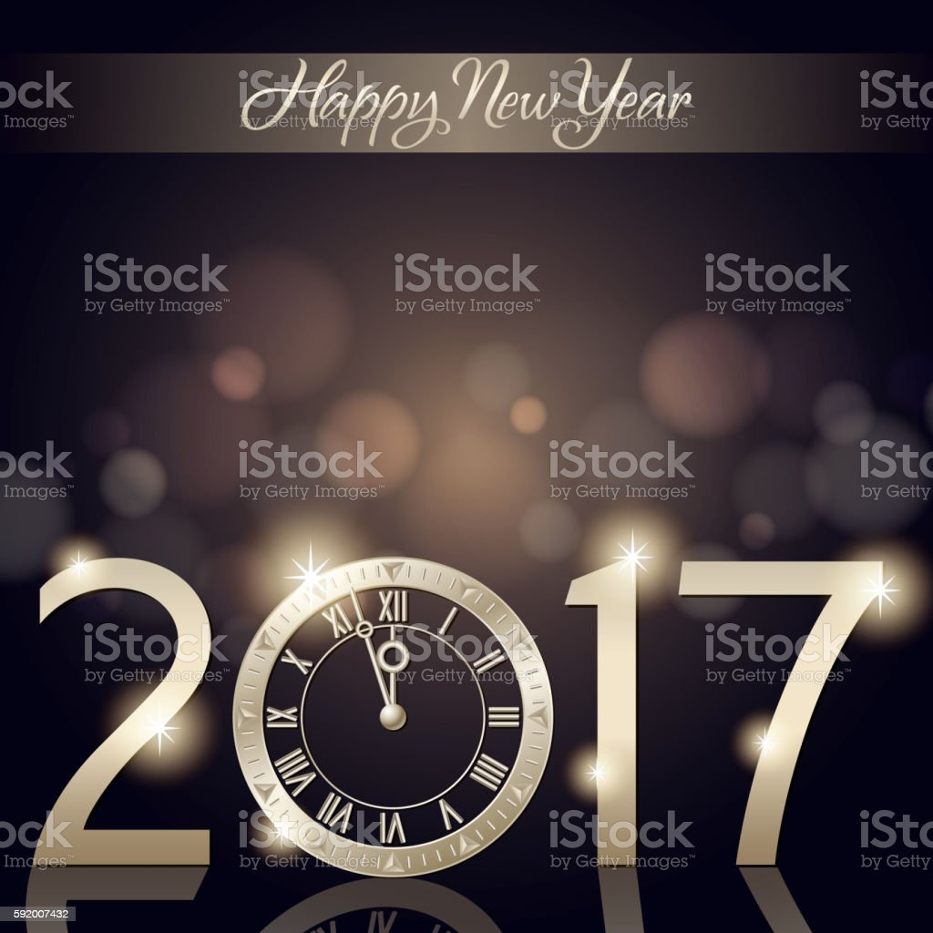 New Year's Eve Countdown 2017 vector art illustration