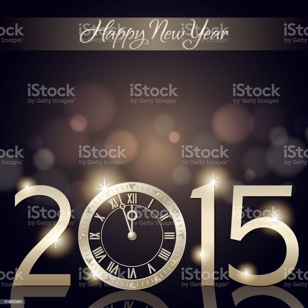 New Year's Eve Countdown vector art illustration