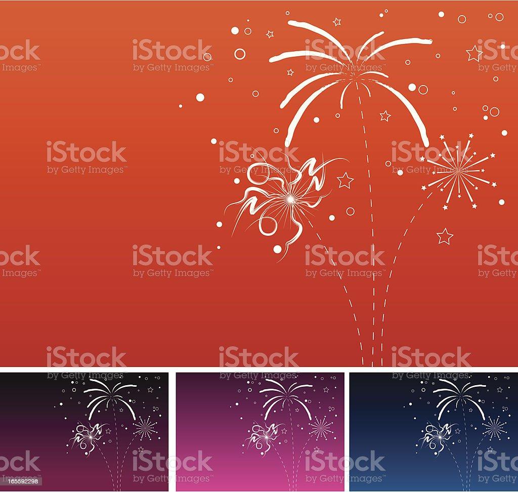 New years eve fireworks templates vector art illustration