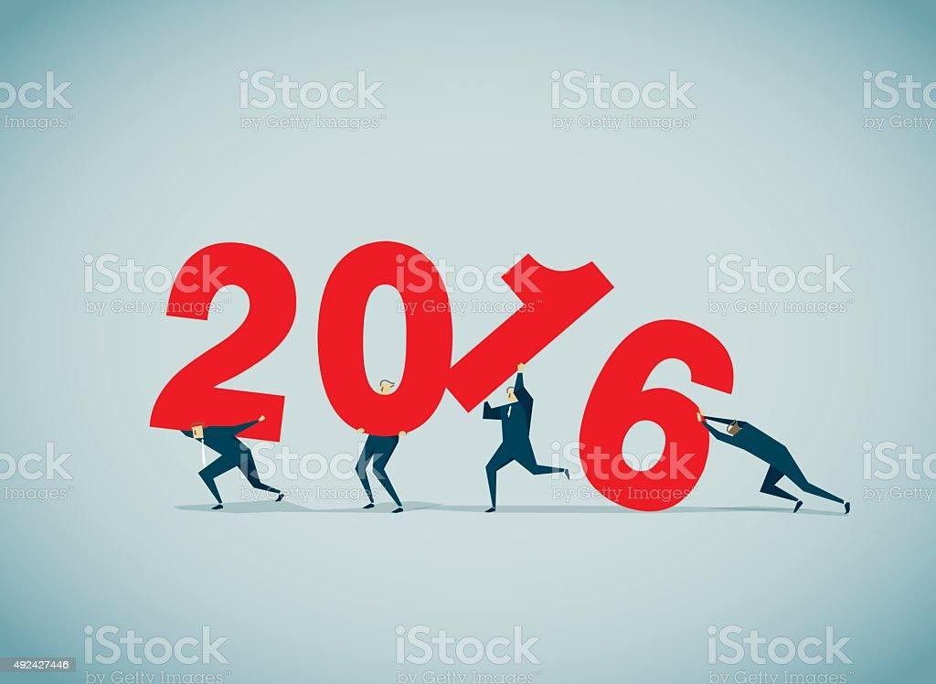 New Year's Eve vector art illustration