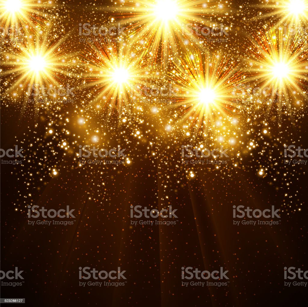 New Year's Fireworks - Illustration vector art illustration