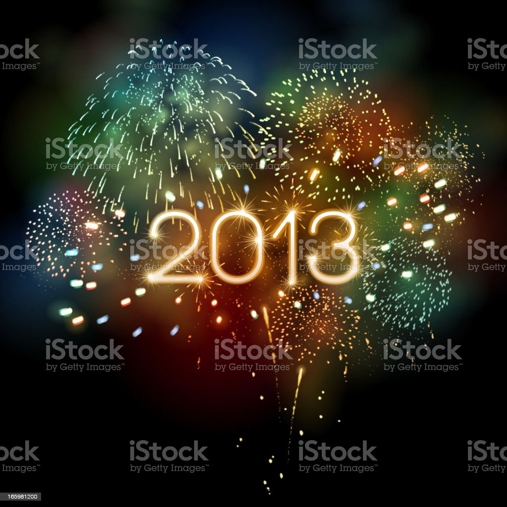 New Year's Fireworks royalty-free stock vector art