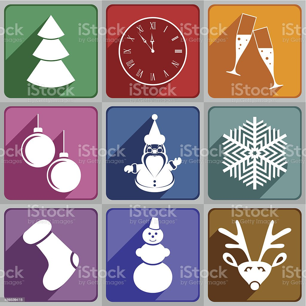 New Year's icons royalty-free stock vector art