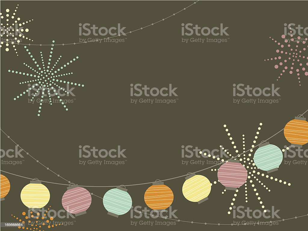 New Year's Lantern royalty-free stock vector art