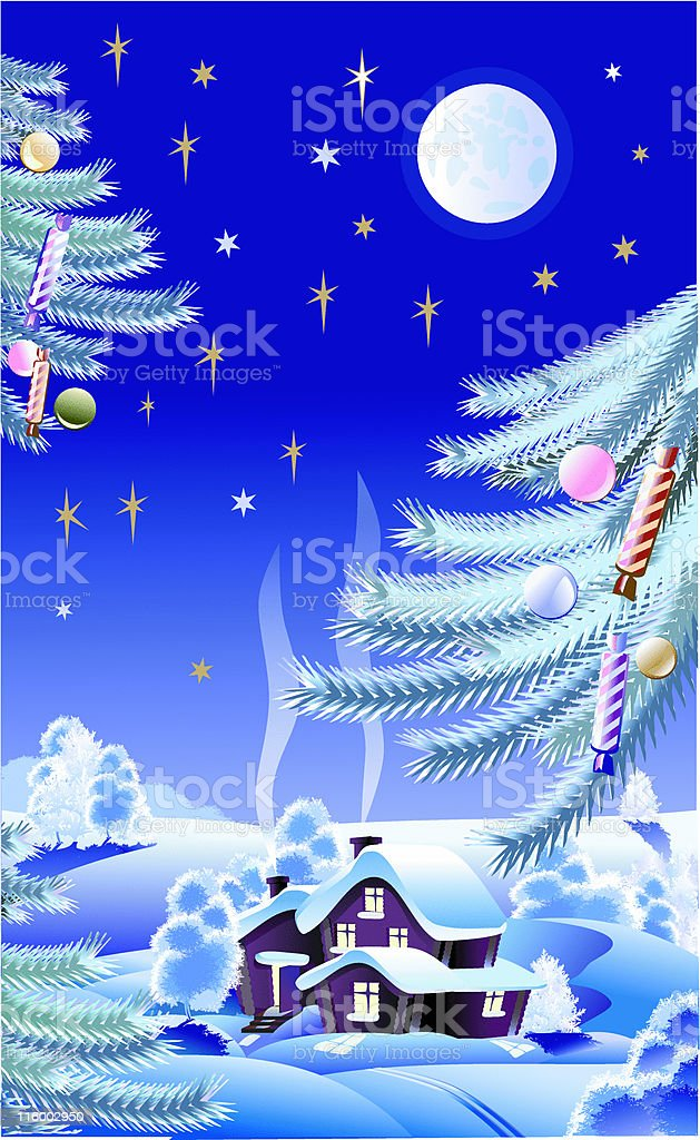 New year's night royalty-free stock vector art
